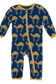 Kickee Pants Print Coverall with Zipper - Front cropped