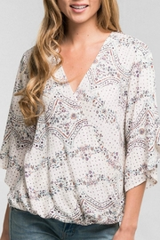 Lovestitch Print Cross-Front Top - Product Mini Image