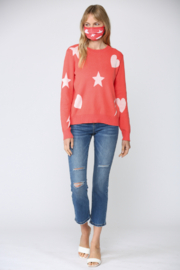 Fate Print Distressed Sweater - Product Mini Image