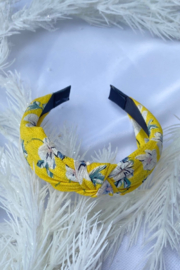CJ Rose print fabric headband - Front cropped