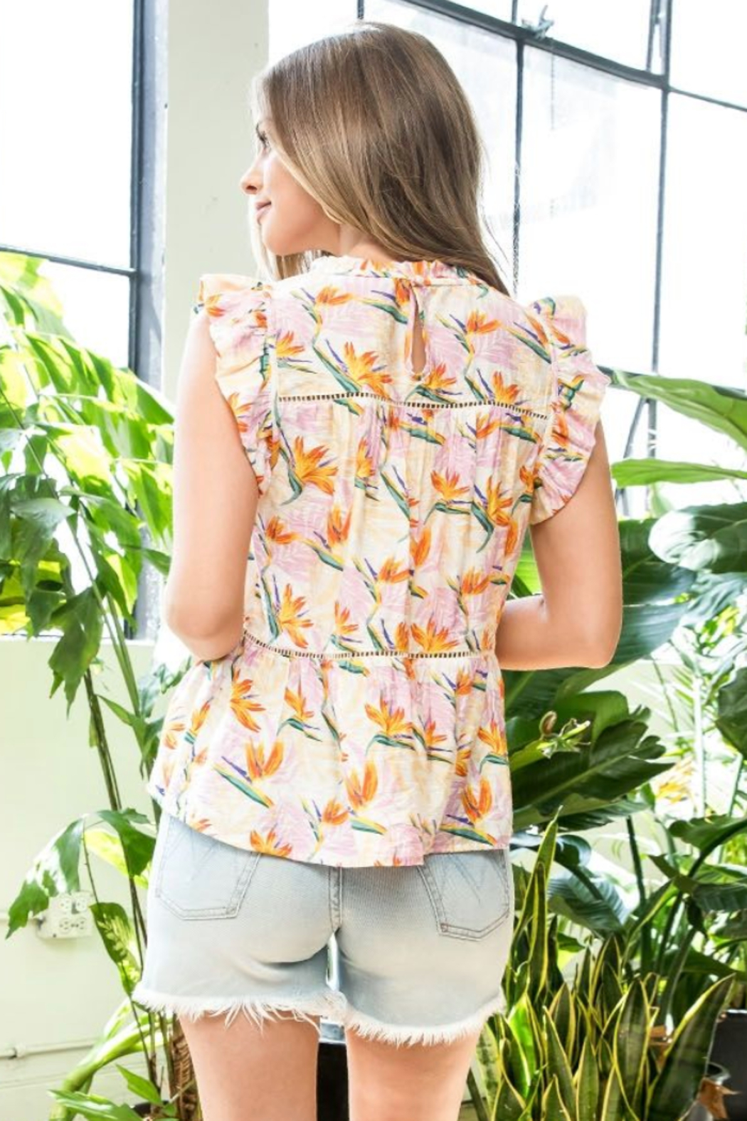 Thml Print Flutter Top - Front Full Image