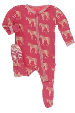 Kickee Pants Print Footie with Zipper - Product List Image