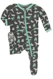 Kickee Pants Print Footie with Zipper - Product Mini Image