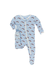 Kickee Pants Pond Rainbow Print Footie with Zipper - Product Mini Image
