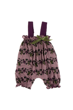 Shoptiques Product: Print Gathered Romper with Bow