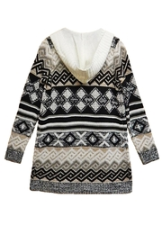 Absolutely Famous Print Hooded Cardigan - Front full body