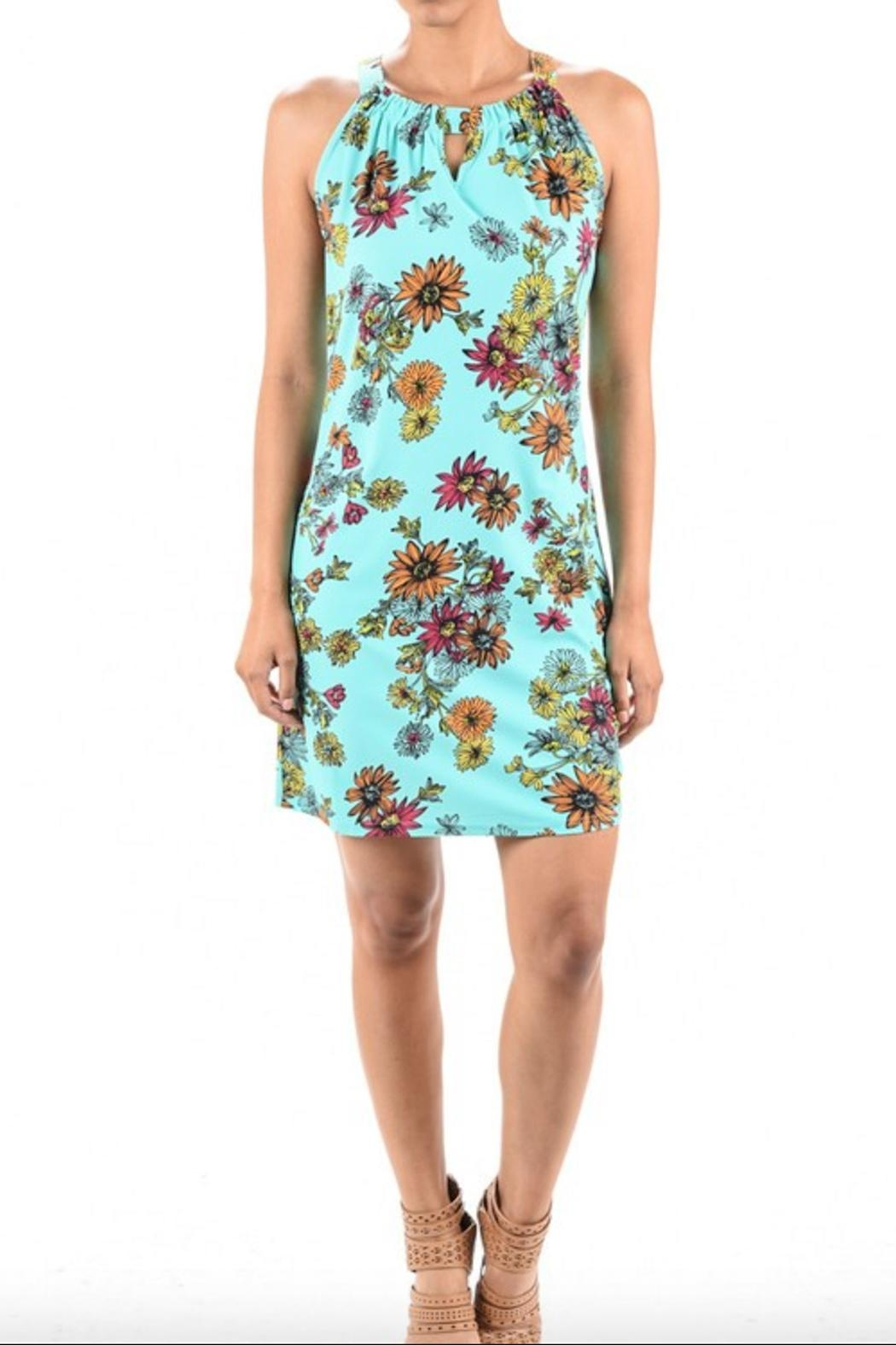 Aryeh Print Keyhole Dress - Front Cropped Image