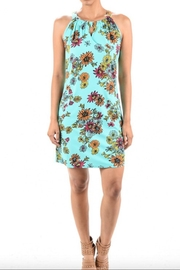 Aryeh Print Keyhole Dress - Front cropped