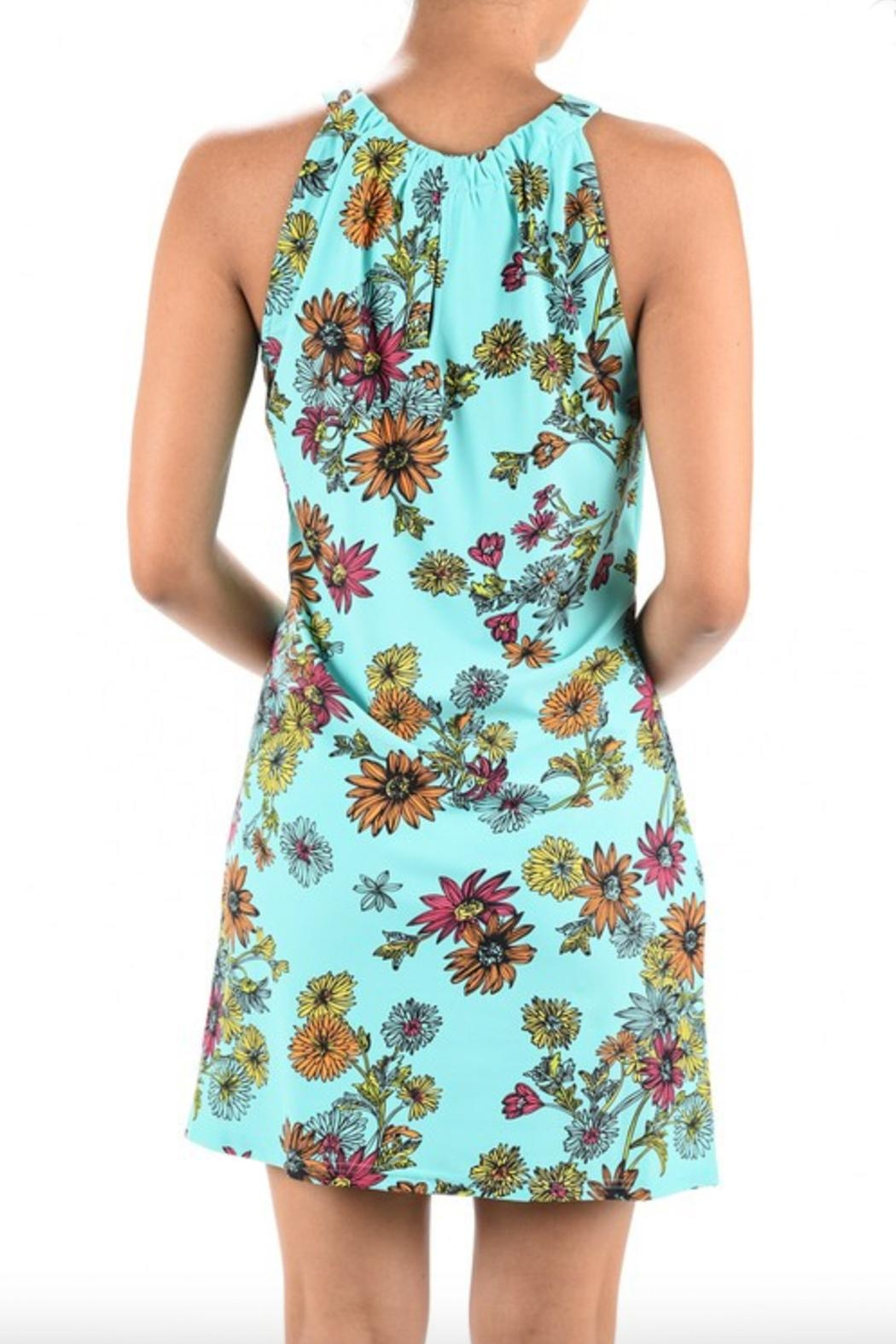 Aryeh Print Keyhole Dress - Front Full Image