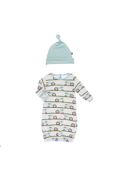 Shoptiques Product: Print Layette Gown and Single Knot Hat Set