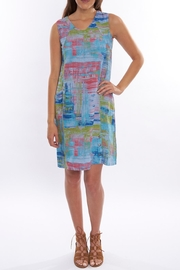 Color Me Cotton Print Linen Dress - Product Mini Image
