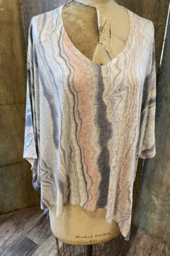 Nally & Millie Print marbled Oversize Angles Top - Product List Image