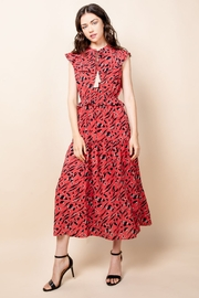 Thml Print Maxi Dress with Tassel - Front full body