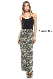 Capella Apparel Print Maxi Skirt - Front cropped