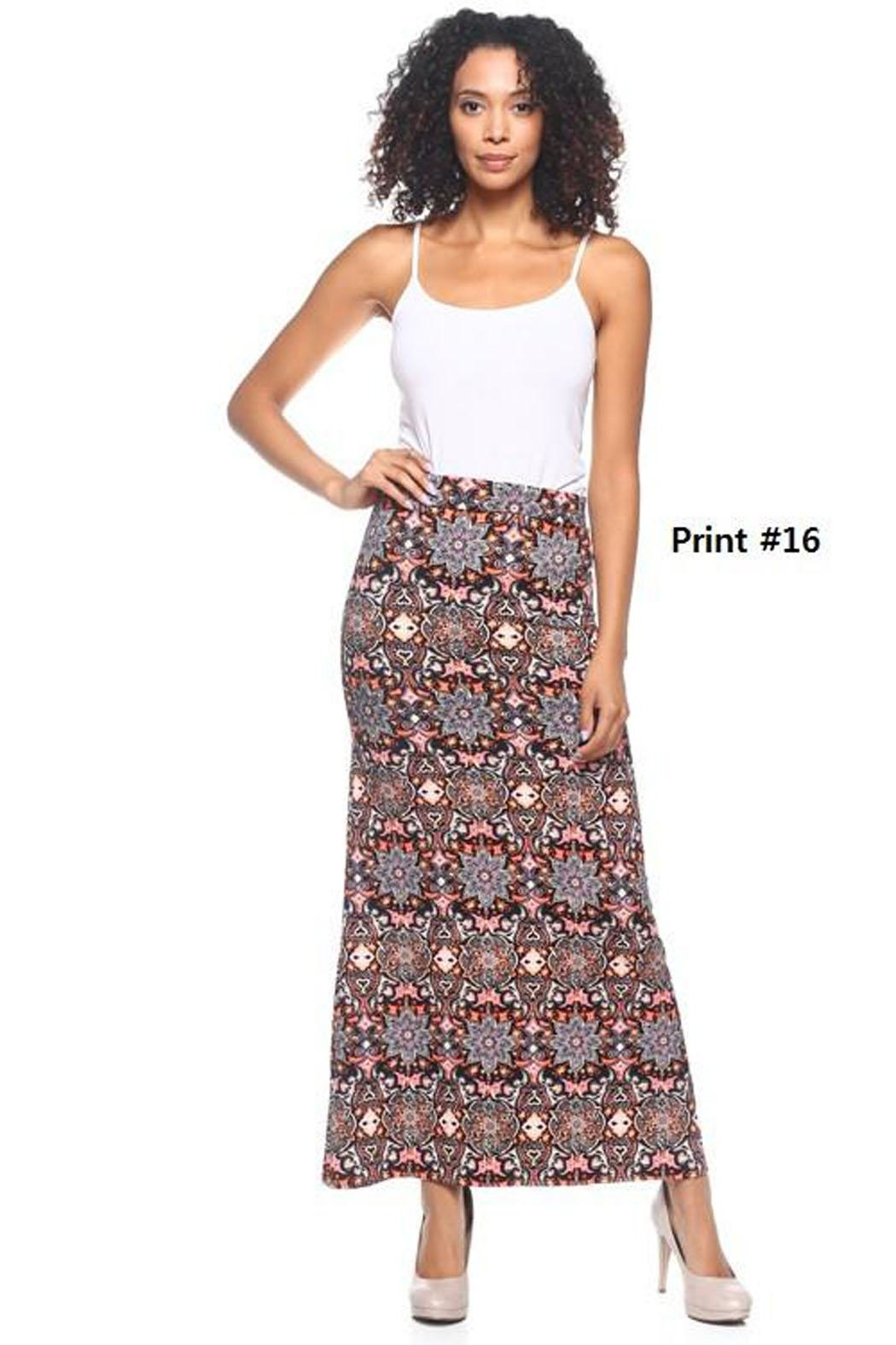 Capella Apparel Print Maxi Skirt - Front Cropped Image