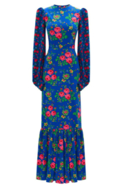 The Vampire's Wife PRINT MIDI DRESS - Front cropped