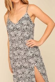 Timing Print Midi Slip Dress - Front full body