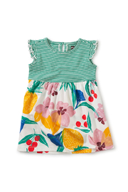 Tea Collection Print Mix Ruffle Baby Dress - Fruity Floral - Product Mini Image
