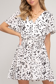 She and Sky Print Party Dress - Product Mini Image