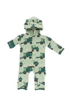 Kickee Pants Print Quilted Hoodie Coverall with Sherpa Lined Hood - Alternate List Image