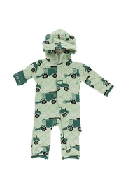 Kickee Pants Print Quilted Hoodie Coverall with Sherpa Lined Hood - Product Mini Image