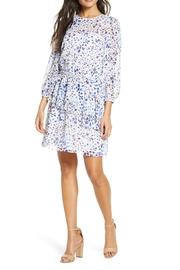 Eliza J Print Ruffle Balloon Sleeve Dress - Product Mini Image