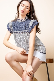 Thml Print Ruffle Top - Front full body