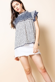 Thml Print Ruffle Top - Product Mini Image