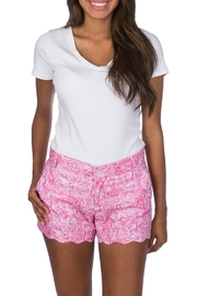 Lauren James Print Scallop Shorts - Product Mini Image