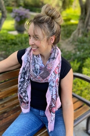 CJ Rose print scarf - Front cropped