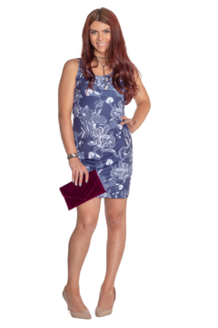 Whimsy Rose Print Scoop Tank Dress - Product List Image