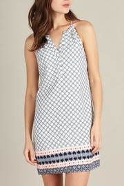 Skies Are Blue Print Shift Dress - Front cropped