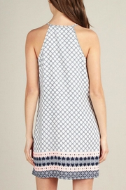 Skies Are Blue Print Shift Dress - Back cropped