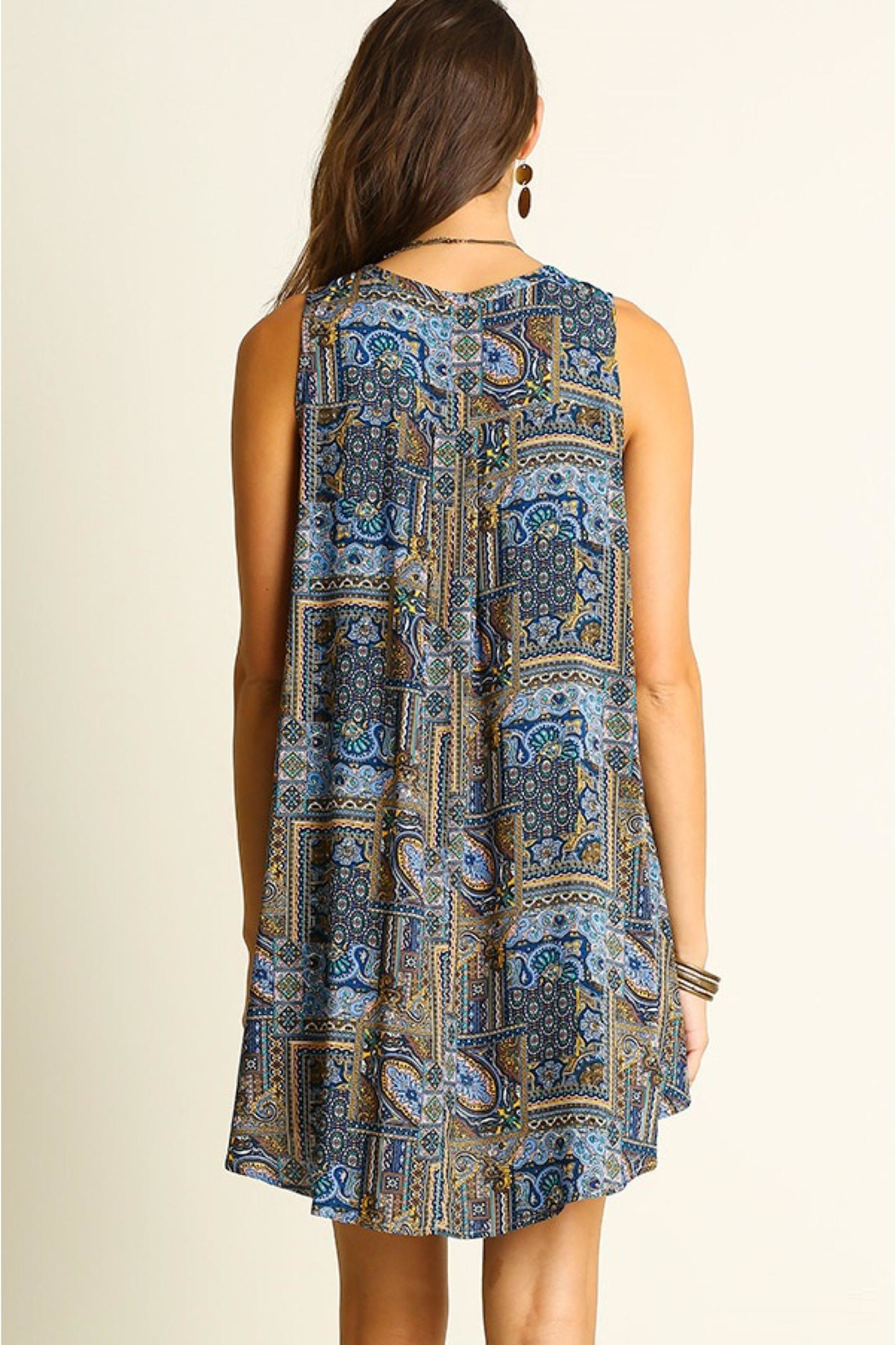 People Outfitter Print Shift Dress - Side Cropped Image