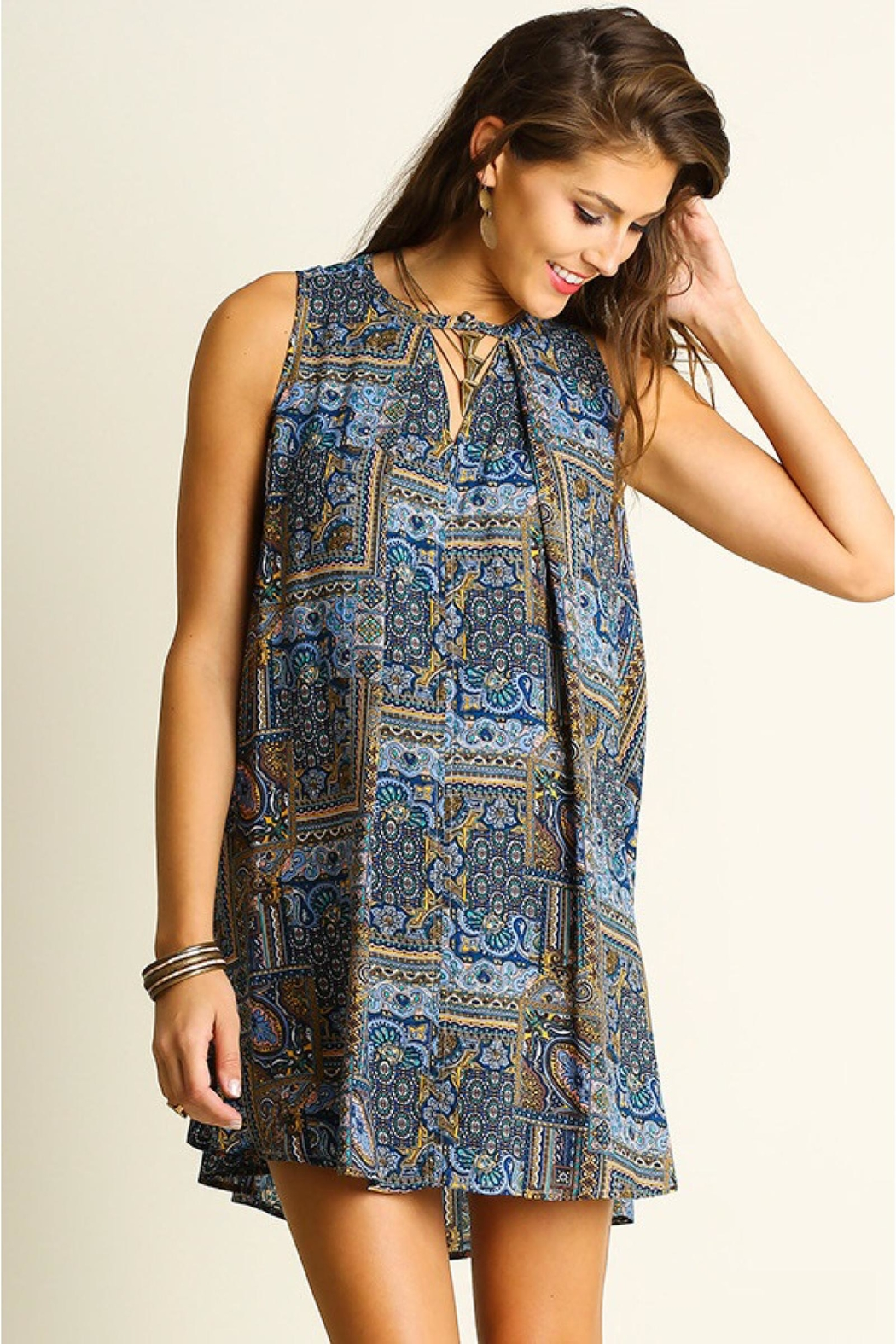 People Outfitter Print Shift Dress - Front Full Image