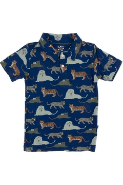 Kickee Pants Print Short Sleeve Polo - Alternate List Image