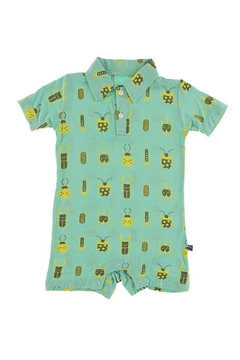 Kickee Pants Print Short Sleeve Polo Romper - Alternate List Image
