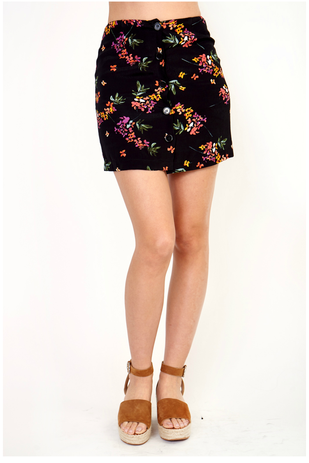 Olivaceous Print skirt - Main Image
