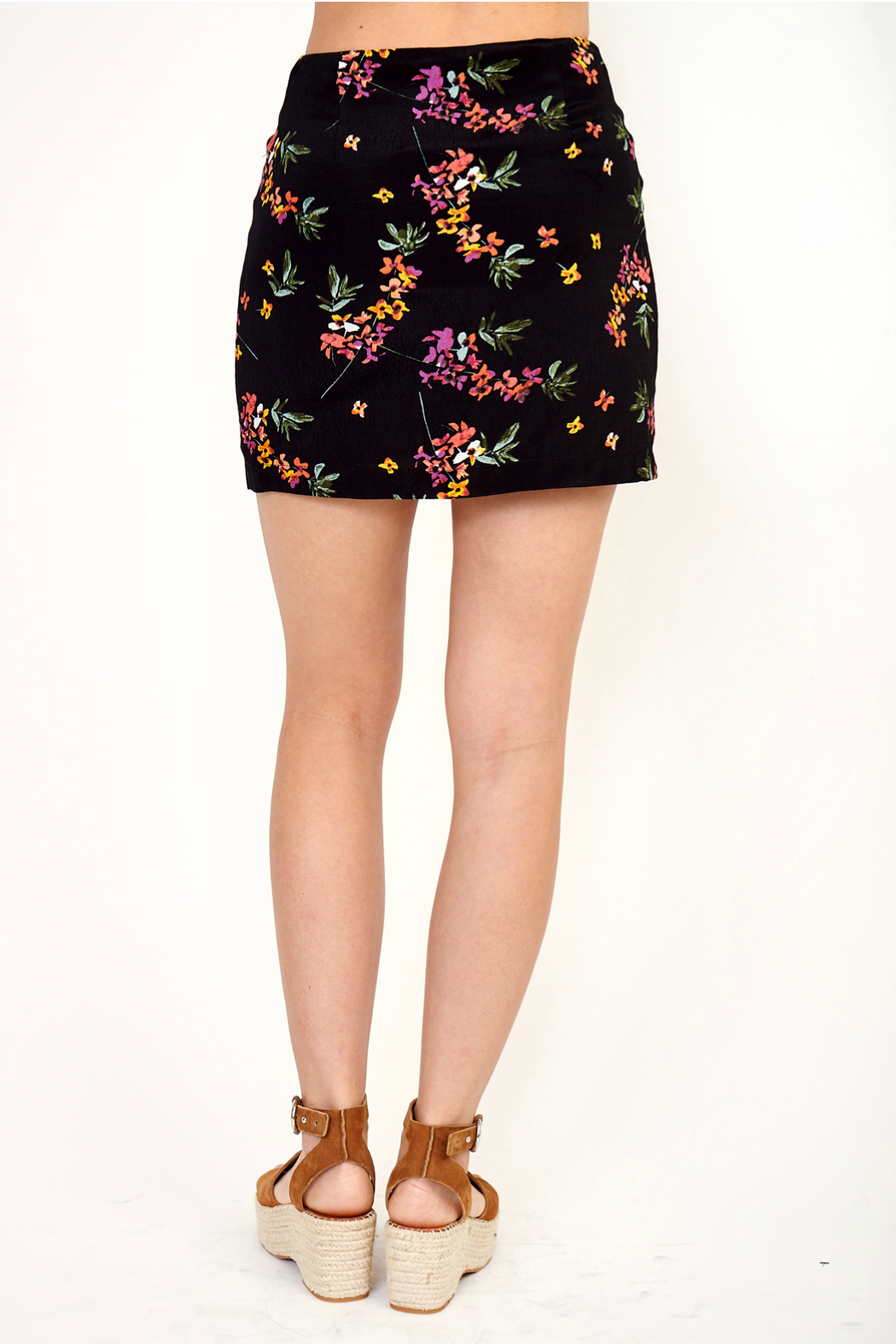 Olivaceous Print skirt - Front Full Image