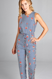 Racine Print Sleeveless Jumpsuit - Product Mini Image