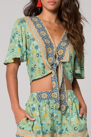 Band Of Gypsies Print Tie Front - Front cropped