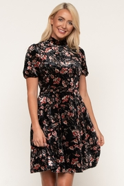 Downeast  Print Velvet Dress - Product Mini Image