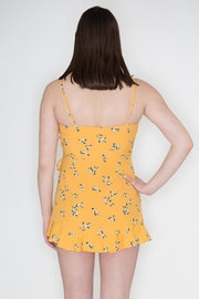 Honey Punch Print Wrap Romper - Back cropped