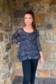Nally & Millie Printed Animal Print Knit Tunic - Product Mini Image