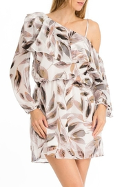 Olivaceous Printed Asymmetric Dress - Product Mini Image