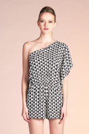Tyche Printed Asymmetric Romper - Product Mini Image