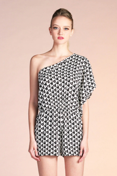 Tyche Printed Asymmetric Romper - Product List Image