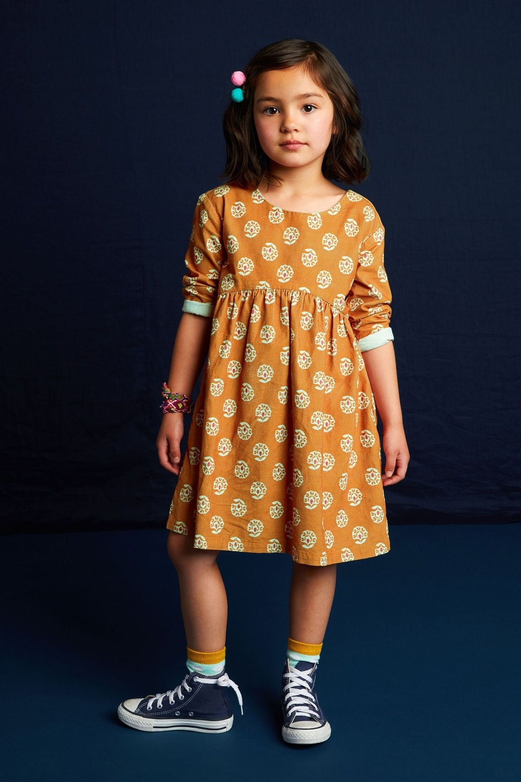 Tea Collection Printed Baby Cord Dress - Main Image
