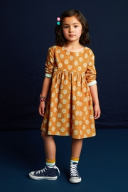Tea Collection Printed Baby Cord Dress - Front cropped