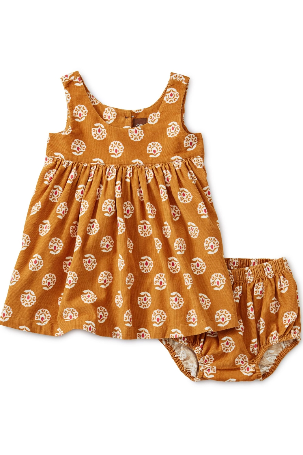 Tea Collection Printed Baby Cord Jumper - Back Cropped Image